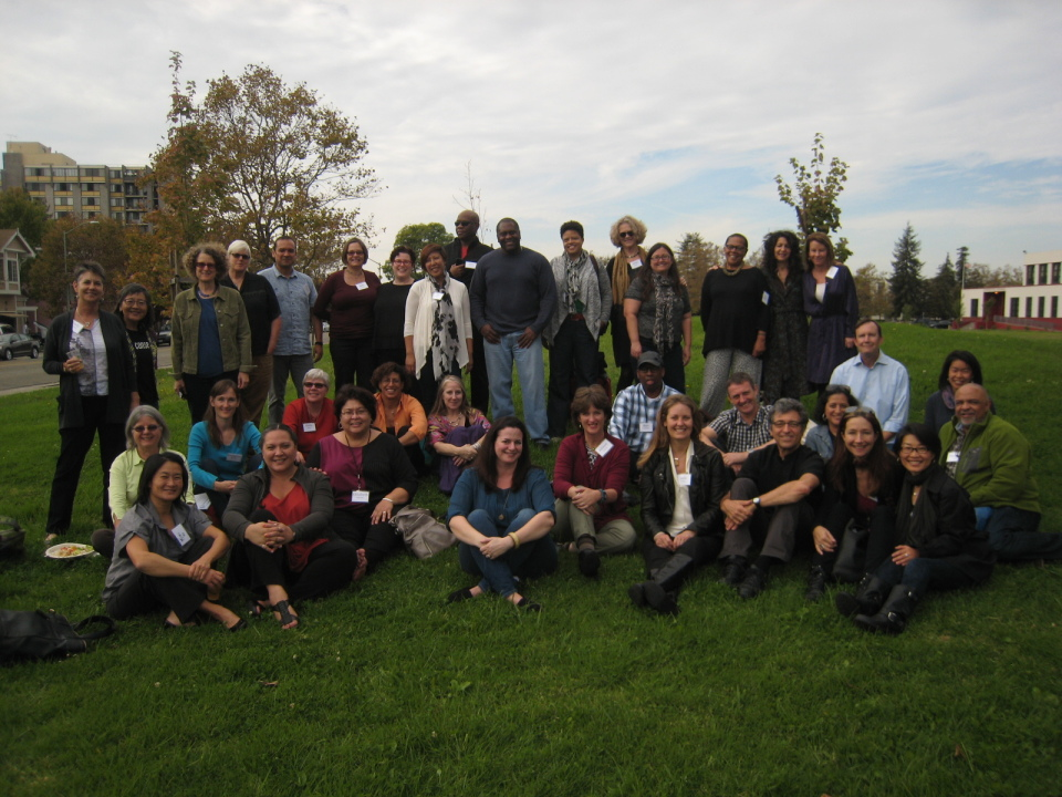 A group photo from a recent ATC Community of Practice gathering. Sarah From, the author of this post, is front and center in blue.